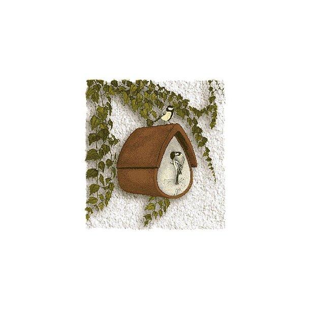 Spurve-/mejseredekasse, Facadekasse (brun)