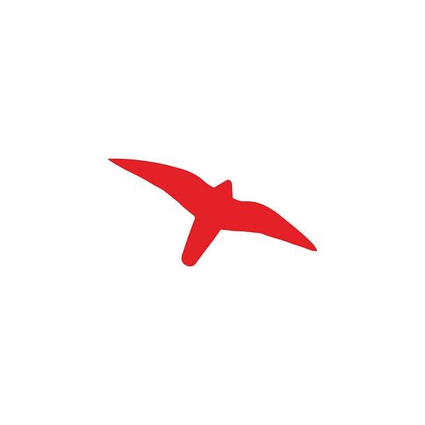 Rovfuglesilhuet - rød